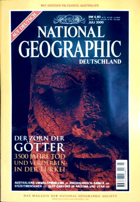 NATIONAL GEOGRAPHIC DEUTSCHLAND 2000 Juli -  der Zorn der Götter: 3500 Jahre Tod und Verderben in der Türkei