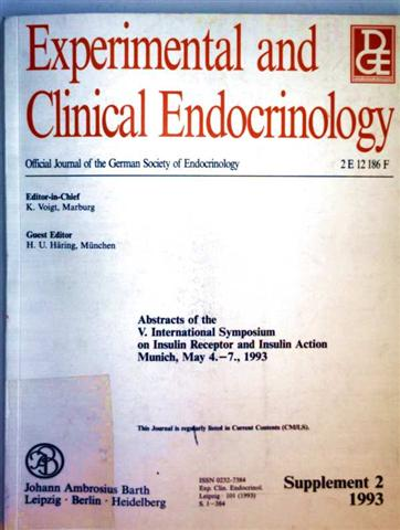 Experimental and Clinical Endocrinology - Abstacts of the V. International Symposium on Insulin Receptor and Insulin Action 1993, Volume 101 Supplement 2