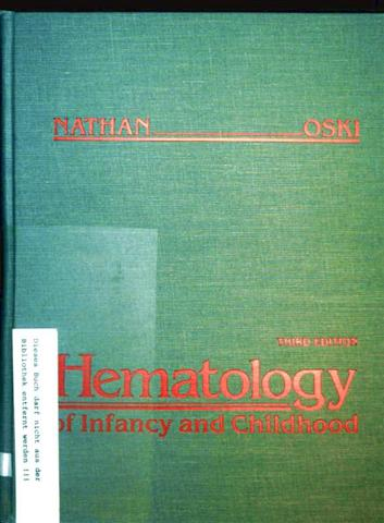 Hematology of Infancy and Childhood, Volume 1 - Third Edition
