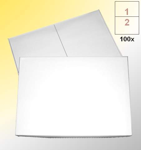 Universal-Etiketten, permanent klebend - weiß, 210 x 296 mm (DIN A4), 2 Etiketten pro Seite, 1 Box mit 100 Seiten (=200 Aufkleber)