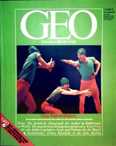 Geo Magazin 1987, Nr. 08 August - das Rekordlabor, die deutsche Sporthochschule Köln stiftet eine Ehe zwischen Geist und Muskeln