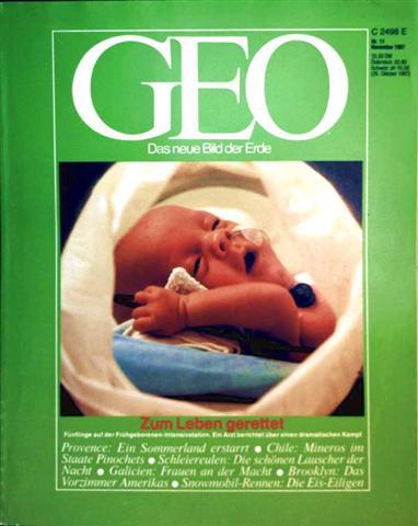 Geo Magazin 1987, Nr. 11 November - zum Leben gerettet, Fünflinge auf der Frühgeborenen-Intensivstation ein Arzt berichtet über einen dramatischen Kampf
