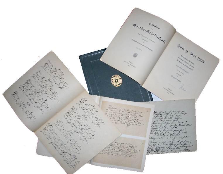 Schriften der Goethe-Gesellschaft, 20.Band. In einer Leinen-Box (Zum 9. Mai 1905. Die Huldigung der Künste. Demetrius: Marfa