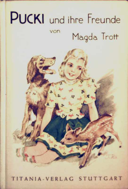 Magda Trott, Ingrid Hansen (Zeichner): Pucki und ihre Freunde (schwarz-weiß illustriert)