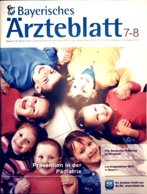 Bayerische Ärzteblatt, Juli-August 2013 Nr. 07-08 - Prävention in der Pädiatrie