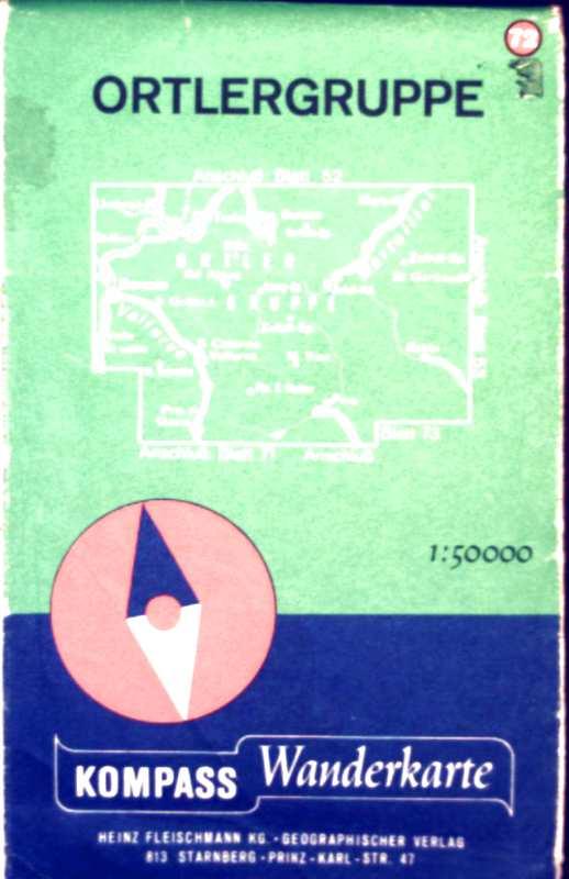 Kompass Wanderkarte No.72, Ortler-Gruppe, Maßstab 1:50.000