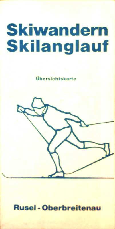 Paul Speiser, Verkehrsamt Deggendorf (Hsg.): Übersichtskarte Skiwandern, Skilanglauf, Rusel-Oberbreitenau, Maßstab 1:33333