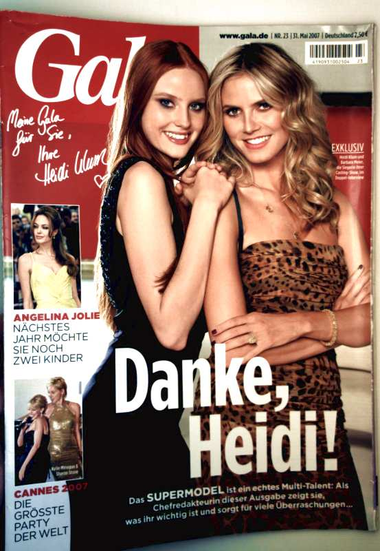 Gala Nr. 23, Mai 2007 - Danke Heidi - Das Supermodel ist ein echtes Mulit-Talent - Heidi Klumm und Barbara Meier die Siegerin ihrer Casting-Show