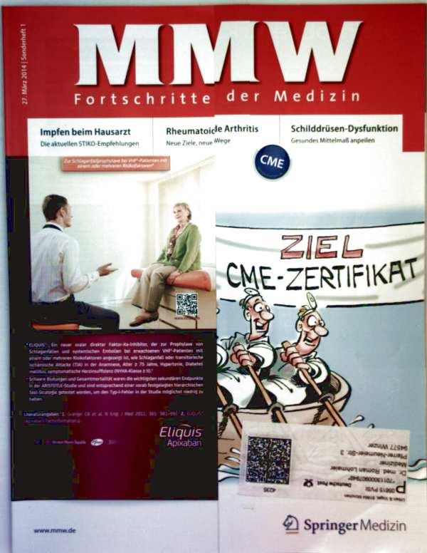 MMW Fortschritte der Medizin Sonderheft März 2014 Nr. 01 - impfen beim Hausarzt, Rheumatoide Arthritis, Schilddrüsen-Dysfunktion