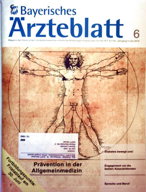 Bayerisches Ärzteblatt,  Juni 2014, Nr. 06  -  - Prävention in der Allgemeinmedizin