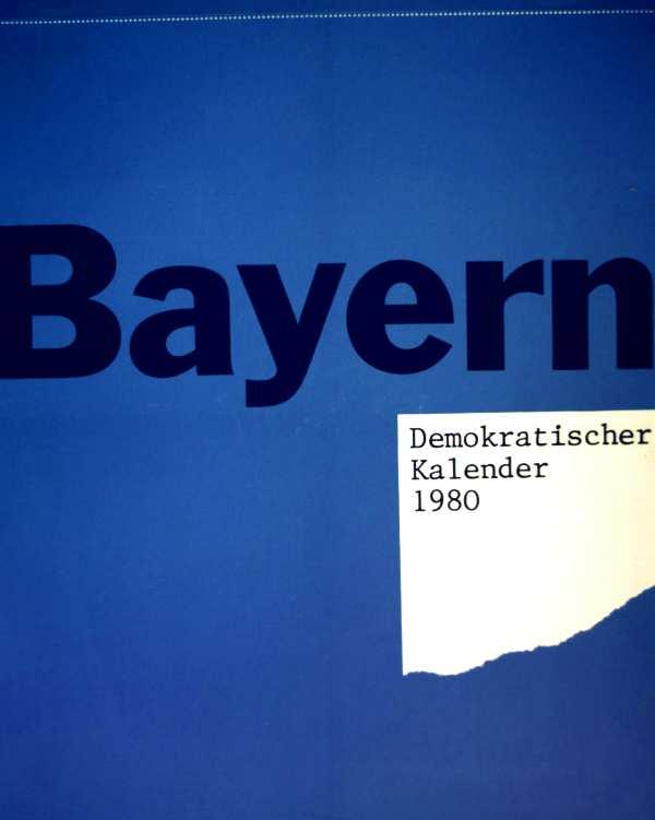 Bayern Demokratischer Kalender 1980
