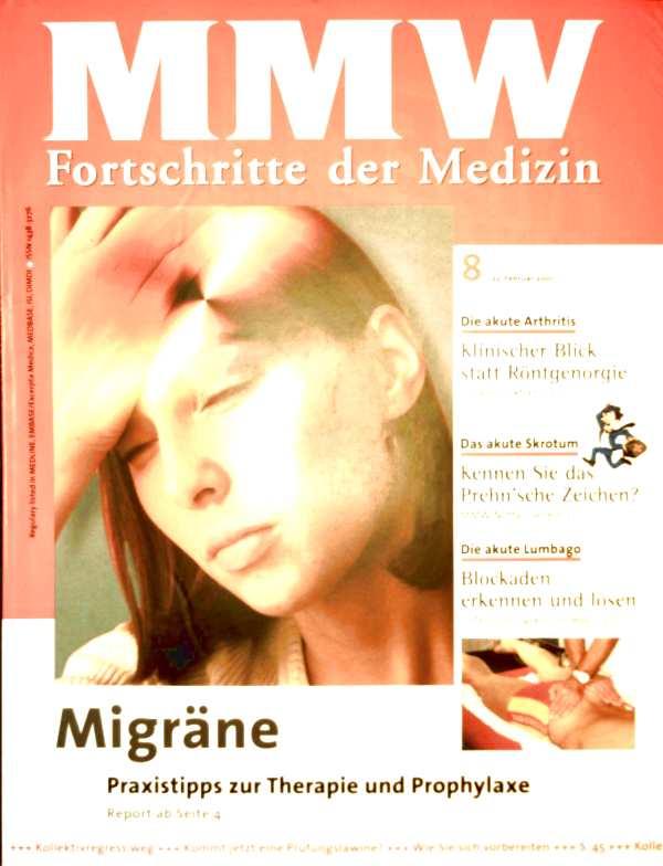 MMW Fortschritte der Medizin 2001, Nr. 08 - Migräne, Praxistipps zur Therapie und Prophylaxe