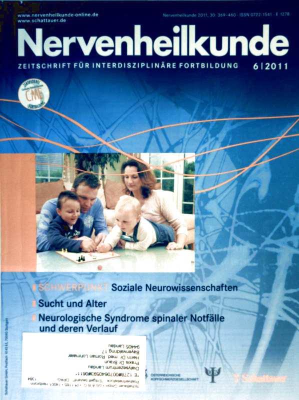 Nervenheilkunde 2011, 06 Soziale Neurowissenschaften