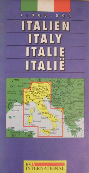 Italien - Strassenkarte. Maßstab 1:800.000