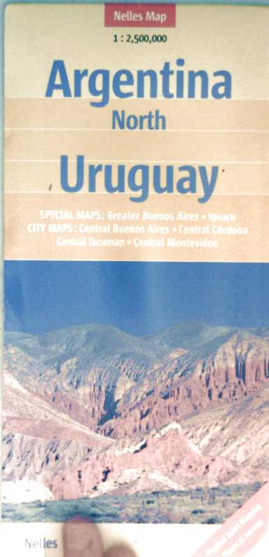 Argentinia North - Uruguay (Special Maps: Grater Buenos Aires, Iguacu - City Maps: Central Bueno Aires, Central Cordoba, Central Tucuman, Central Montevideo)