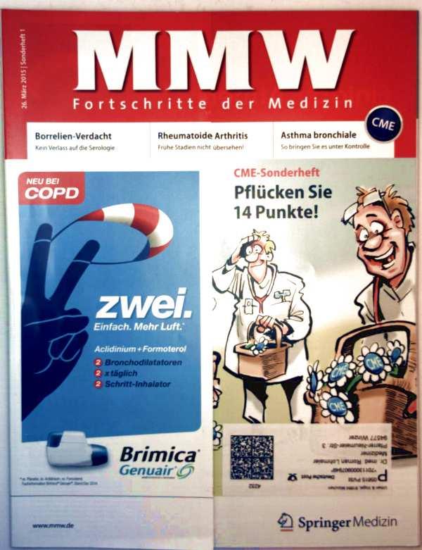 MMW Fortschritte in der Medizin, März 2015, Sonderheft 01 - Borrelien-Verdacht: kein Verlass auf die Serologie, rheumatoide Arthritis: Frühe Stadien n. übersehen!, Asthma bronchiale: unter Kontrolle