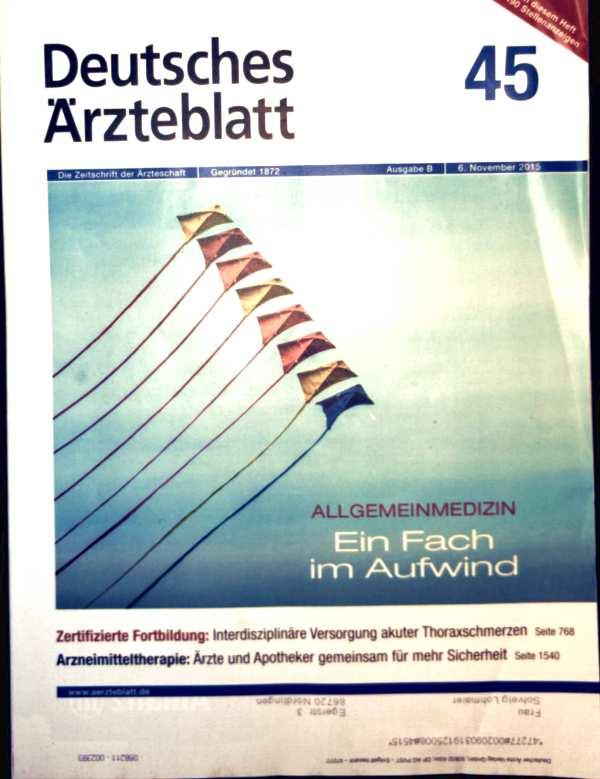 Deutsches Ärzteblatt 2015, Ausgabe B, No. 45, Allgemeinmedizin - ein Fach im Aufwind