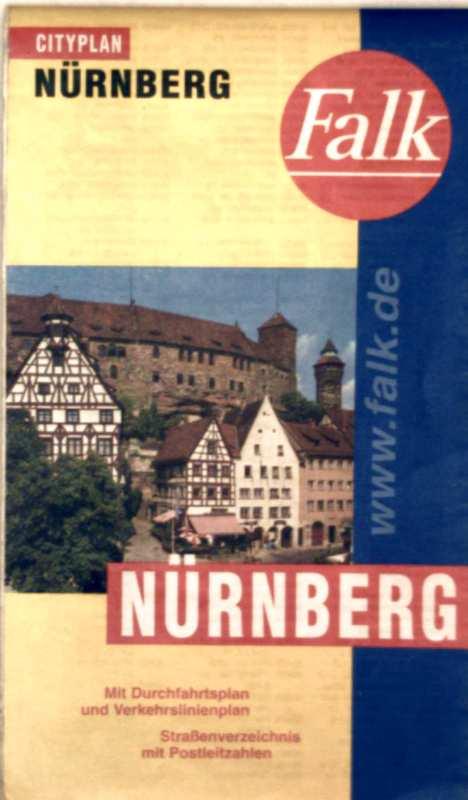 Falk-Plan Cityplan Nürnberg.