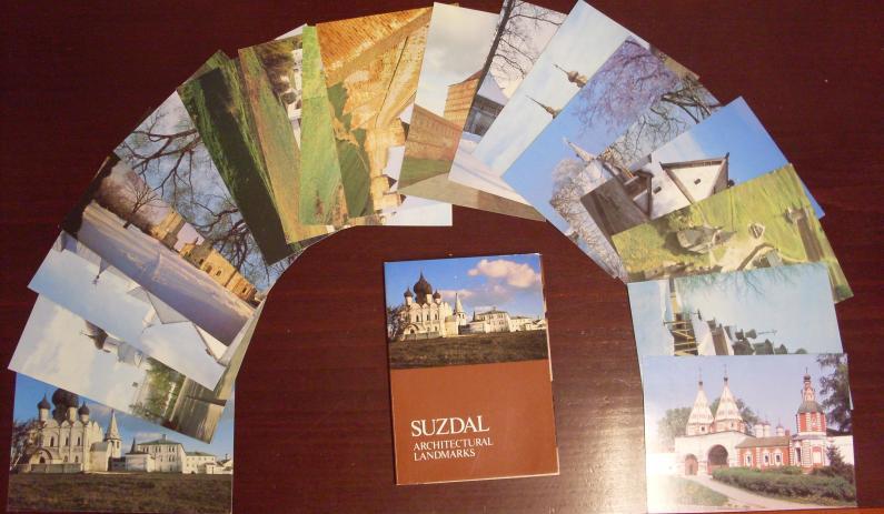 SUZDAL - Architectural Landmarks, 18 Fotografie-Postkarten (Postkartenset, Komplett)