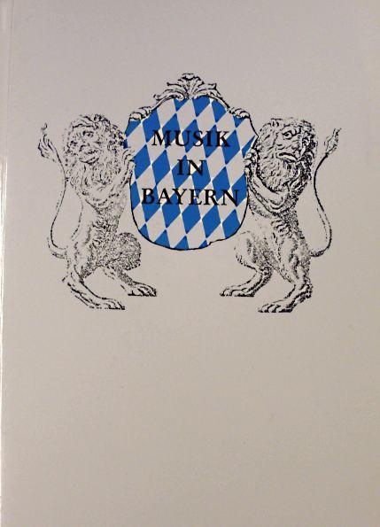 Gesellschaft f.Bayerische Musikgeschichte e.V.: Musik in Bayern, Heft 63/2002. Jahrbuch der Gesellschaft f.Bayerische Musikgeschichte e.V.