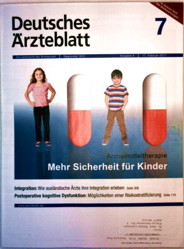 Deutsches Ärzteblatt, Februar 2017 Nr. 07 - Arzneimitteltherapie: mehr Sicherheit für Kinder, postoperative kognitive Dysfunktion: Möglichkeiten einer Risikostratifizierung