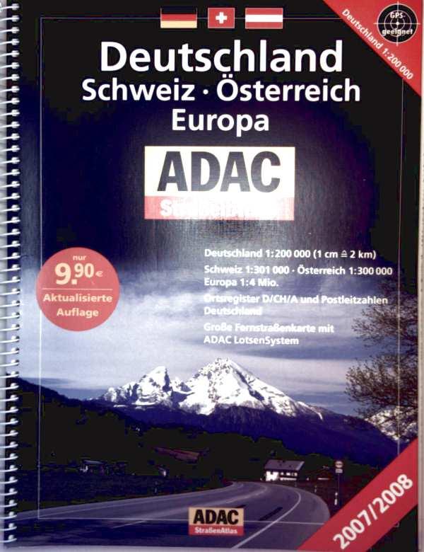 ADAC Straßenatlas 2007-2008, Deutschland, Schweiz, Österreich