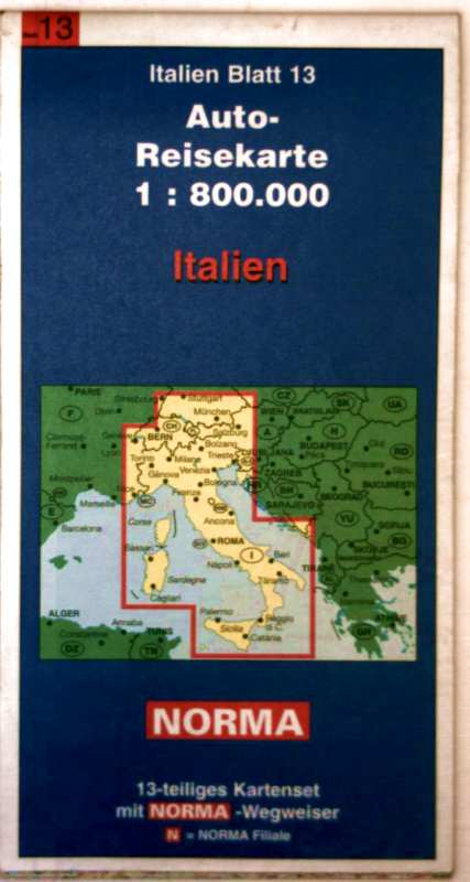 Italien, Blatt 13 - Auto-Reisekarte 1:800.000