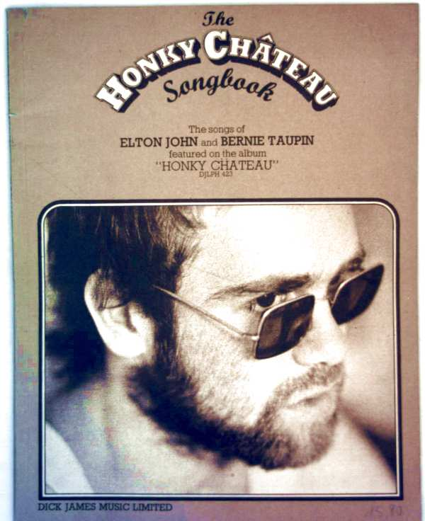 Honky Chateau Songbook - The Songs of Elton John and Bernie Taupin featured on the album Honky Chateau, DJLPh 423