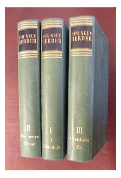 Der neue Herder von  A bis Z. (3 Bände)