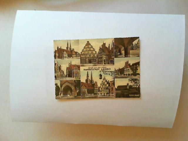 Gruß aus der alten Hansestadt Lemgo (farbige Postkarte) 10 Motive, u.a.: Rathaus und Nikolaikirche, Hexenbürgermeisterhaus, Rathauslaube usw.