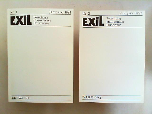 Koch, Joachim H. und Edita Koch (Hg.): Exil 1933 - 1945. Forschung, Erkenntnisse, Ergebnisse -  IX. Jahrgang 1994 vollständig in zwei Heften zusammen.