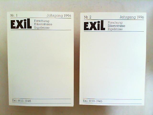 Exil 1933 - 1945. Forschung, Erkenntnisse, Ergebnisse -  XVI. Jahrgang 1996 vollständig in zwei Heften zusammen.