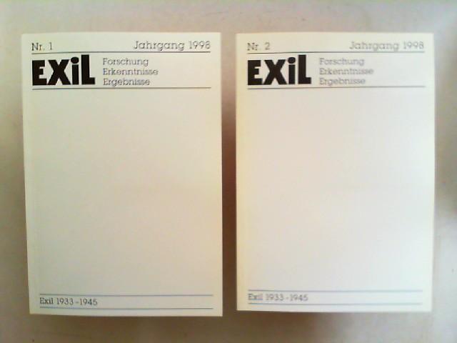 Exil 1933 - 1945. Forschung, Erkenntnisse, Ergebnisse -  XVIII. Jahrgang 1998 vollständig in zwei Heften zusammen.