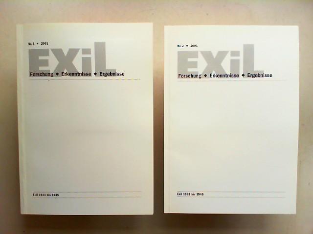 Exil 1933 - 1945. Forschung, Erkenntnisse, Ergebnisse -  21. Jahrgang 2001 vollständig in zwei Heften zusammen.