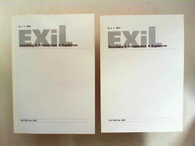 Exil 1933 - 1945. Forschung, Erkenntnisse, Ergebnisse - 25. Jahrgang 2005 vollständig in zwei Heften zusammen.