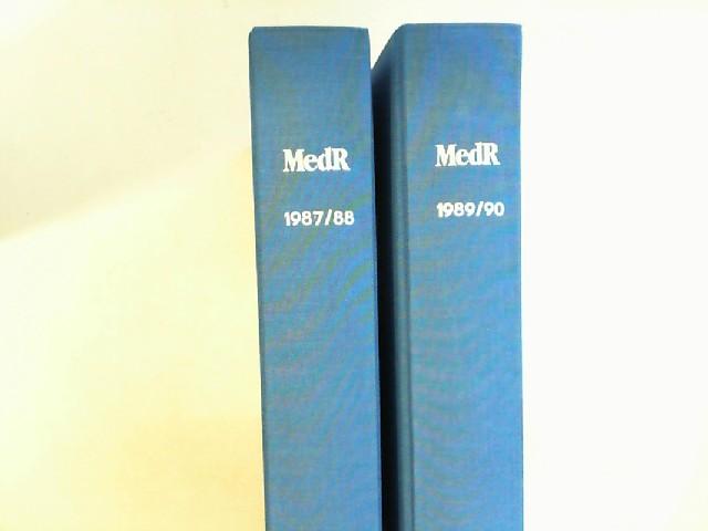 MedR. Medizinrecht - 5. Jahrgang 1987 bis 8. Jahrgang 1990 (=vier Jahrgänge vollständig in zwei Bänden.)