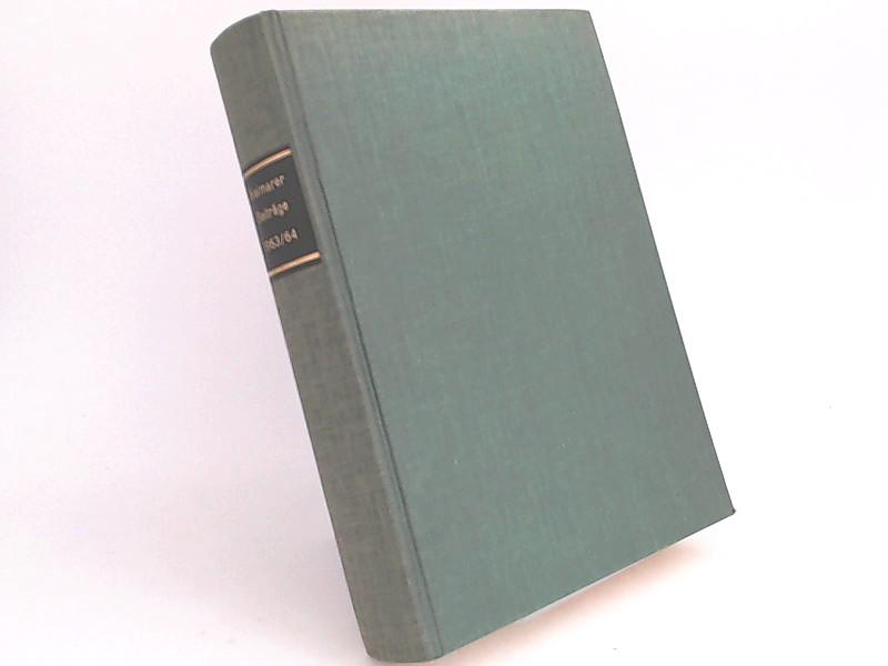 Weimarer Beiträge. Zeitschrift für Literaturwissenschaft. Jahrgang IX / X 1963/64.