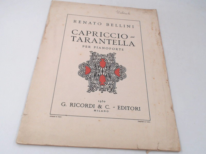 Capriccio - Tarantella per Pianoforte. Aufl.: o.A.