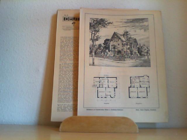 Deutsche Bauhütte. (Wochenzeitschrift) Redigiert von F. Rud. Vogel. Jahr 1905 / 9. Jahrgang. Nr. 9 - 11, 15 - 52 (=28.Dez. 1905).