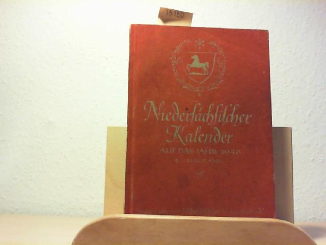 KALENDER.-: Niedersächsischer Kalender auf das Jahr 1948. 2. Jahrgang.