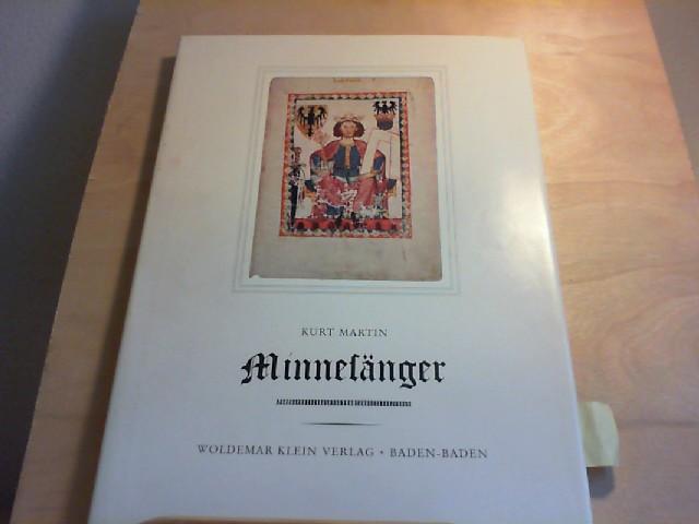 MINNESÄNGER. Achtzehn farbige Wiedergaben aus der Manessischen Liederhandschrift. Mit einer Einleitung von Kurt Martin.