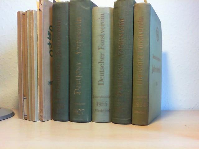 Jahresbericht des Deutschen Forstvereins 1927, 1935, 1937, (je Eu. 10,--) UND: 1951, 1953, 1954, 1956 . (Eu. 10,-- / zus. Eu. 65,--)