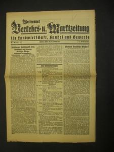WETTERAUER VERKEHRS- UND MARKTZEITUNG. Für Landwirtschaft, Handel und Gewerbe. 1.Jahrgang,Nr.2. 24.Oktober 1932.