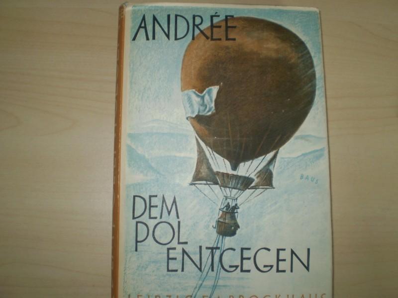 DEM POL ENTGEGEN. Auf Grund der während Andrees Polarexpedition 1897 geführten und 1930 auf Vitö gefundenen Tagebücher S. A. Andrees, N. Strindbergs und K. Fraenkels herausgegeben von der Schwedischen Gesellschaft für Anthropologie und Geographie.