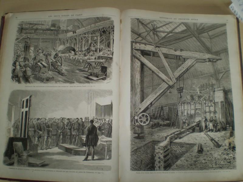 MEMORIAL ILLUSTRE DES DEUX SIEGES DE PARIS. 1870 - 1871. Trois cent vingt illustrations de BOCOURT, CHIFFLART, CLERGET, DARJOU, Gustave DORE, FERAT, LIX, etc.