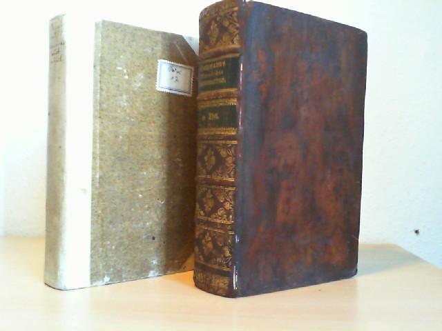 MORALISCHES ELEMENTARBUCH nebst einer Anleitung zum nützlichen Gebrauch desselben. 1. und 2. Theil in 2 Büchern. 1782/1783. Erstausgabe.