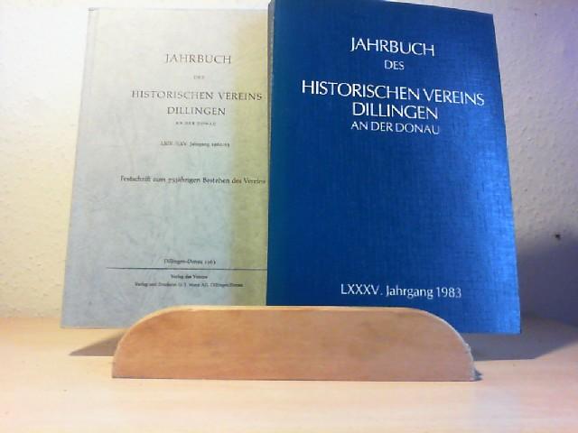 Jahrbuch des Historischen Vereins Dillingen an der Donau. Vorhanden: Jahrgang 1962/63; Jahrgang 1983.