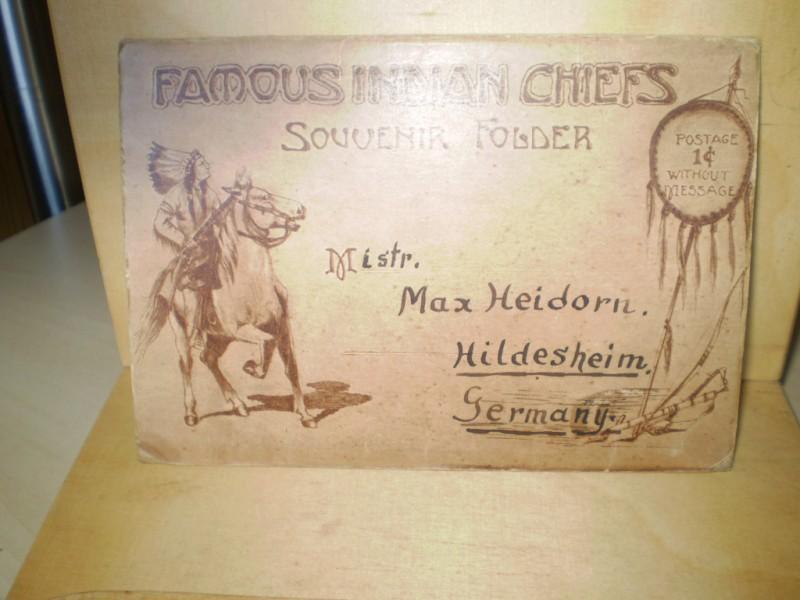 Famous Indian Chiefs. Souvenir Folder.