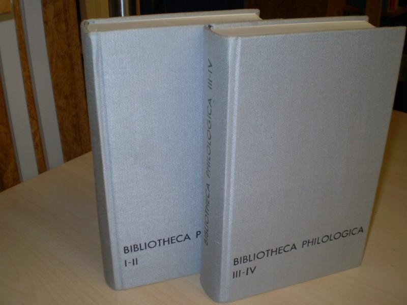 Bibliotheca philologica. Reprint der Ausgaben Halle 1870-74. 5 Teile in 2 Bänden.