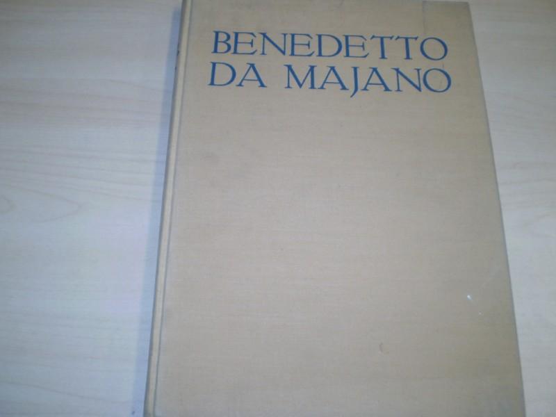 Benedetto da Majano. Ein Florentiner Bildhauer des späten Quattrocento. EA.